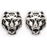 Ladies Chrysalis Silver Plated Bodhi Tiger Earrings CRET0406AS