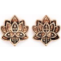 Ladies Chrysalis Rose Gold Plated Bodhi Lotus Flower Earrings CRET0408AR