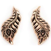 Ladies Chrysalis Rose Gold Plated Bodhi Peacock Feather Earrings CRET0411AR