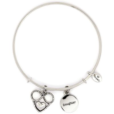 Ladies Chrysalis Silver Plated Cherished Daughter Expandable Bangle CRBT2302SP