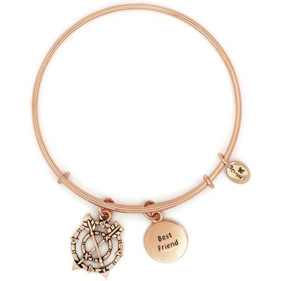 Ladies Chrysalis Rose Gold Plated Cherished Best Friend Expandable Bangle CRBT2304RG