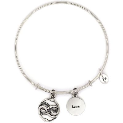 Ladies Chrysalis Silver Plated Cherished Love Expandable Bangle CRBT2305SP