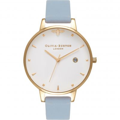 Zegarek damski Olivia Burton Queen Bee Chalk Blue & Rose Gold OB16AM123