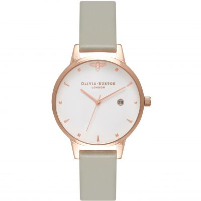 Olivia Burton Queen Bee Grey & Rose Gold Damklocka Grå OB16AM126