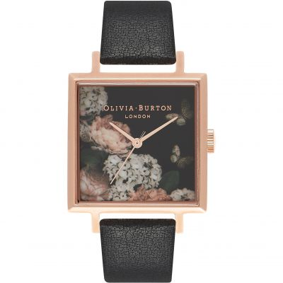 Montre Femme Olivia Burton Winter Garden Rose Gold & Black OB16WG27