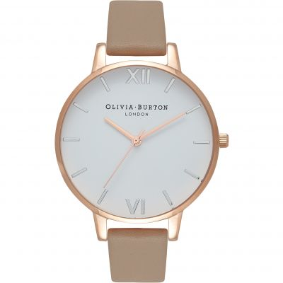 White Dial Rose Gold Silver & Sand Watch