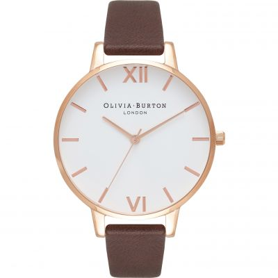 Montre Femme Olivia Burton Big Dial Rose Gold & Chocolate OB16BDW32