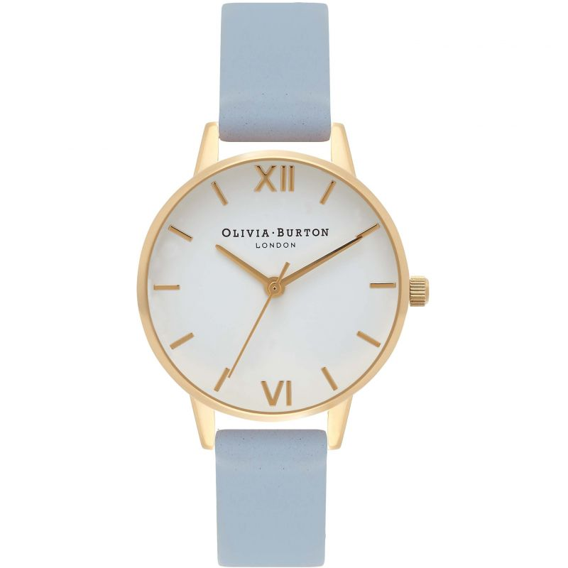 White Dial Gold & Chalk Blue Watch OB16MDW24 for £72