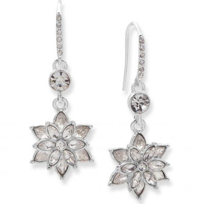 Ladies Anne Klein Silver Plated Radiant Days Flower Earrings 60482703-G03