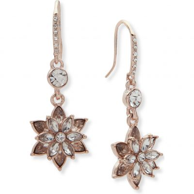 Anne Klein Dames Radiant Days Flower Earrings Verguld Rose Goud 60482709-9DH