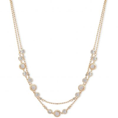 Anne Klein Jewellery  Spotlight 2 Row Collar Necklace