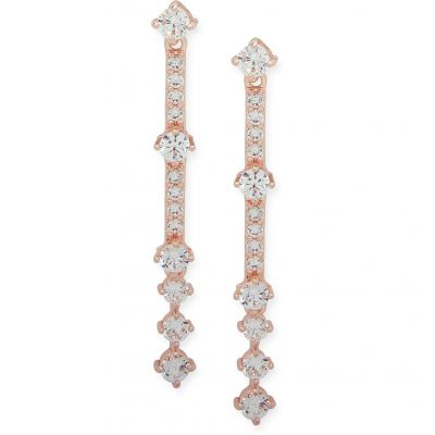 Anne Klein Dames Crystal Earrings Verguld Rose Goud 60485895-9DH