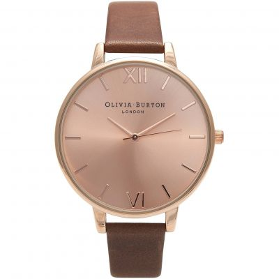 Zegarek damski Olivia Burton Big Dial Chocolate & Rose Gold OB16BD105