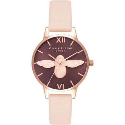 3D Bee Chocolate & Nude Peach Watch
