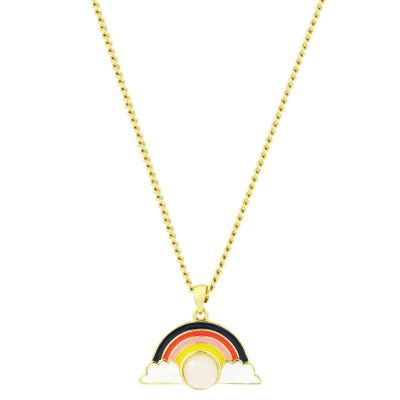 Juicy Couture Rose Quartz Rainbow Luxe Wishes Necklace 39WJW118700-712