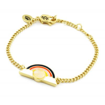 Bijoux Juicy Couture Rose Quartz Rainbow Luxe Wishes Bracelet 39WJW118703-712