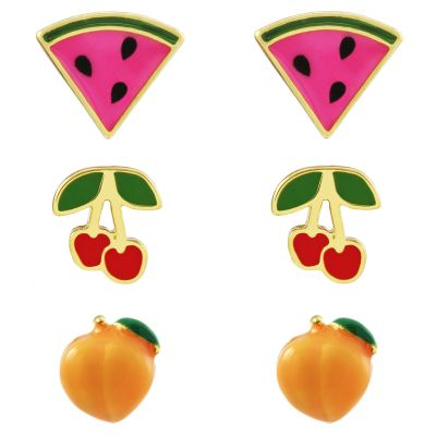 Biżuteria Juicy Couture Jewellery Fruit Earrings Stud Set 39WJW119176-712