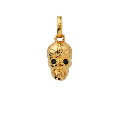 Links Of London Dames Halloween Keepsakes Black Spinel Skull Charm Sterling Zilver 5030.2605