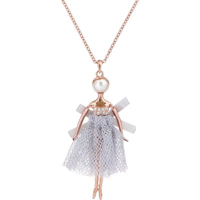 Ladies Ted Baker Bijou Pave Crystal Ballerina Necklace TBJ1324-24-304