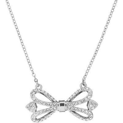 Ted Baker Haven Ornate Pave Bow Necklace TBJ1798-01-02