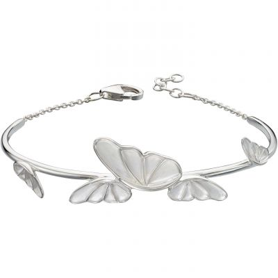 Ladies Elements Sterling Silver Statement Butterfly Bangle B5007