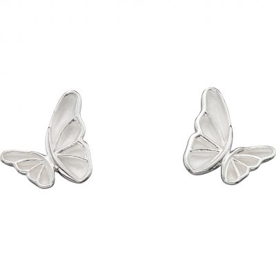 Ladies Elements Sterling Silver Statement Butterfly Studs E5505