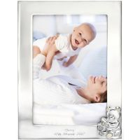 D For Diamond Silver Plated Picture Frame Y414