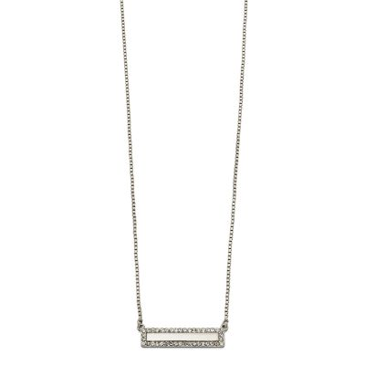 Ladies Fiorelli Silver Plated Crystal Bar Design Necklace N4132