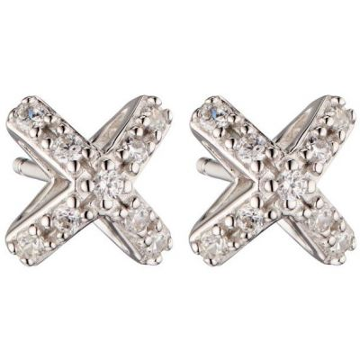 Biżuteria damska Fiorelli Jewellery Cross Stud Earrings E5452C