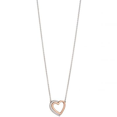 Ladies Fiorelli Sterling Silver Heart Necklace N4140C