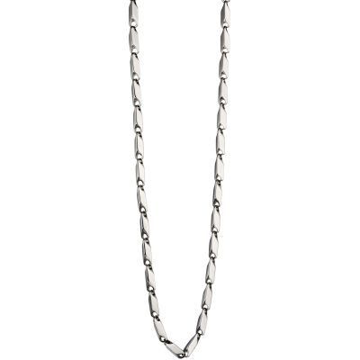 Mens Fred Bennett Stainless Steel Irregular Tube Chain Necklace N4147