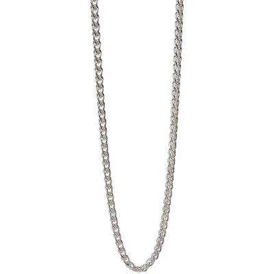 Mens Fred Bennett Sterling Silver Spiga Link Necklace N4148