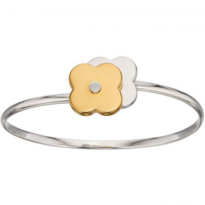 Ladies Orla Kiely Sterling Silver Shadow Flower Bangle B4992