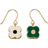 Ladies Orla Kiely Gold Plated Abacus Flower Earrings E5472