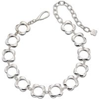Ladies Orla Kiely Silver Plated Open Flower Choker Necklace N4158