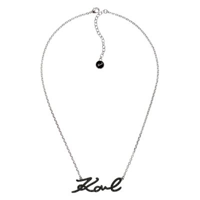 Ladies Karl Lagerfeld Silver Plated Karl Necklace 5378052