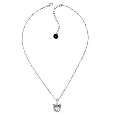Ladies Karl Lagerfeld Silver Plated Choupette Necklace 5378056