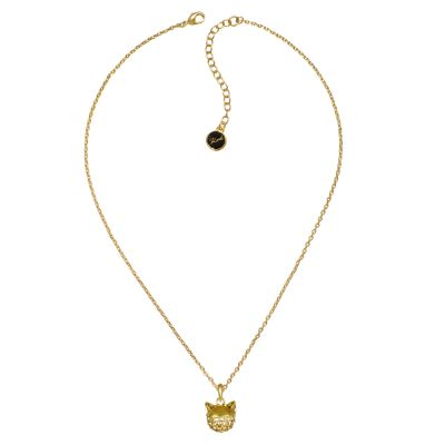 Ladies Karl Lagerfeld Gold Plated Choupette Necklace 5378057