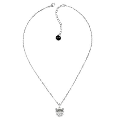 Ladies Karl Lagerfeld Silver Plated Pearl Choupette Necklace 5378059