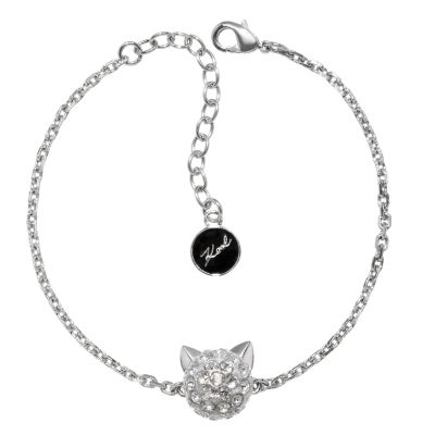 Ladies Karl Lagerfeld Silver Plated Choupette Bracelet 5378060