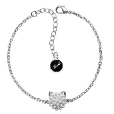 Ladies Karl Lagerfeld Silver Plated Pearl Choupette Bracelet 5378063