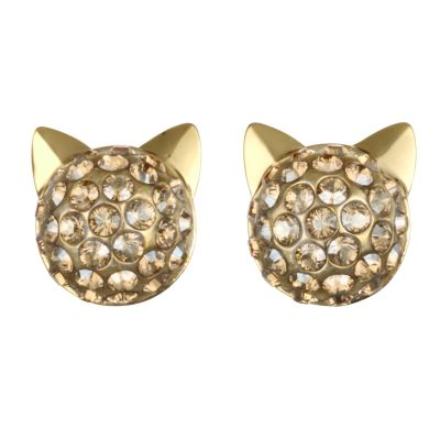 Karl Lagerfeld Dames Choupette Earrings Verguld goud 5378065