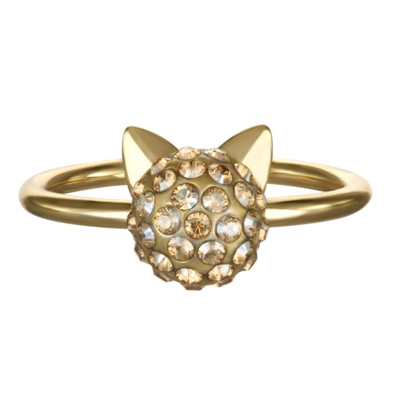 Ladies Karl Lagerfeld Gold Plated Choupette Ring size P/Q 5378073