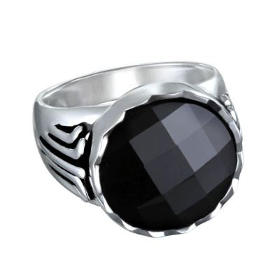 Ladies Karl Lagerfeld Silver Plated Crystal Ring Size N 5378107