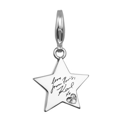 Ladies Karl Lagerfeld Silver Plated Karl Star Charm 5378118