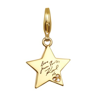 Ladies Karl Lagerfeld Gold Plated Karl Star Charm 5378119