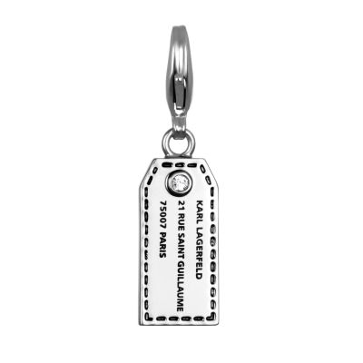 Karl Lagerfeld Dames Address Tag Charm Verguld Zilver 5378121