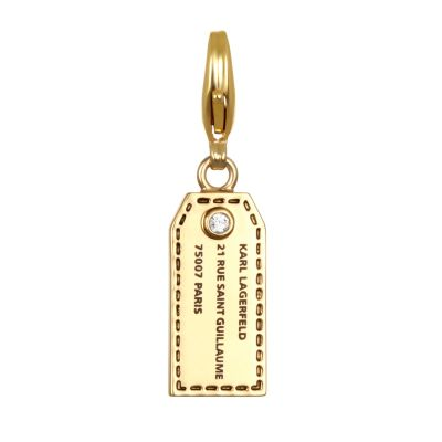 Ladies Karl Lagerfeld Gold Plated Address Tag Charm 5378122