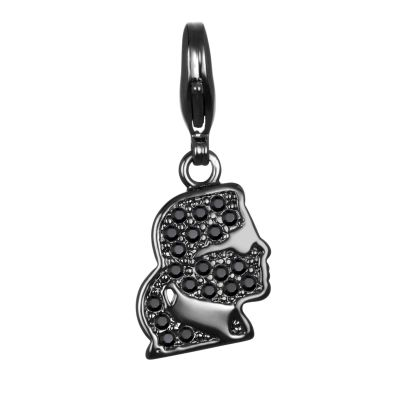 Ladies Karl Lagerfeld Black Ion-plated Steel Karl Kameo Charm 5378128