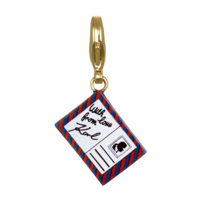 Ladies Karl Lagerfeld Gold Plated Postcard Charm 5378132